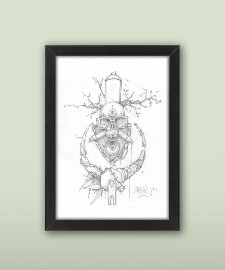 skull tattoo print